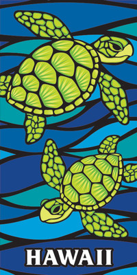 "Honu Sea Glass (30""x60"") Towel"