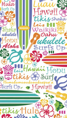 "Words of Hawaii (40"" x 70"") Towel"