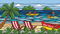 "Hawaii Sea Glass (40""x70"") Towel"