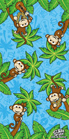 "Monkey Music (30""x60"") Towel"