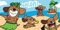 "Poi Dogs in Paradise Towel 30""x60"""