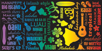 "Hawaii Icons (30""x60"") Towel"