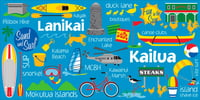 "Kailua Icons (30"" x 60"") Beach Towel"