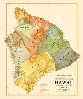 Map of the Island of Hawai'i