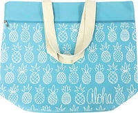Canvas Beach Bag - Pineapple Sunday Blue