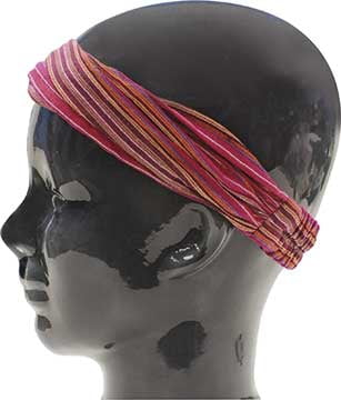 Island Headband - Striped Pink