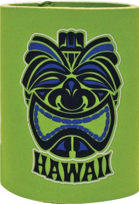 Can Coolie - Tiki Hawaii Green for 12oz