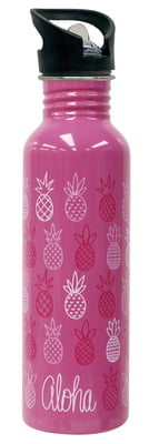 Water Bottle Pineapple Sunday Pink