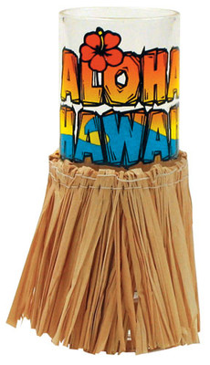 Cordial Shot Glass w/ Skirt - Aloha Hawaii
