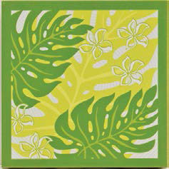 Green Monstera Ceramic Tile Trivet