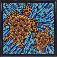 Honu Glass Ceramic Tile Trivet