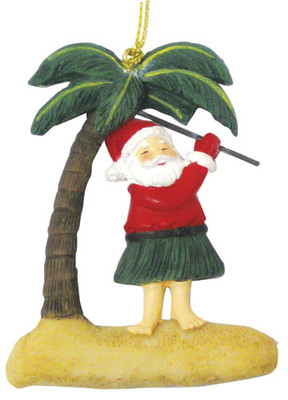 Christmas Ornament (Flat) - Santa Golfs