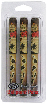 Ballpoin Pen 3 Packs - Island Chain Brown