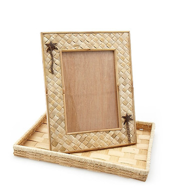 "Photo Frame - Pandan w/ Coconut Tree ( 5"" x 7"")"