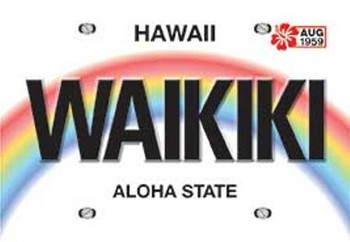Waikiki License Playing Cards