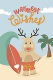 "Boxed 4""x6"" Hawaii Christmas Cards - Warmest Wishes Reindeer"