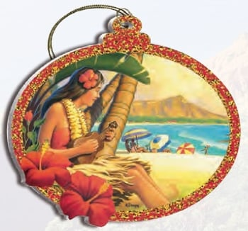 Hawaii Christmas Ornament - Hula Girl