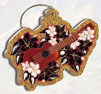 Hawaii Christmas Ornament - Holiday Ukulele