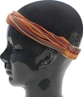 Island Headband - Striped Orange
