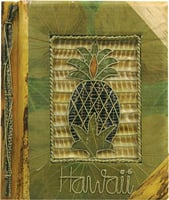 "9""x11"" Green Leaf Pineapple Hawaii Photo Album"