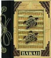 "9""x11"" Bamboo w/ 2 Honu Hawaii Photo Album"