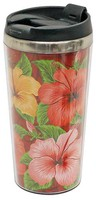 Stainless Steel Double Wall Tumbler - Hibiscus Trio