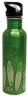 Water Bottle - Green Surfboards