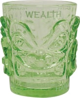 Shot Glass Ooga-Shaka Tiki Light Green (set of 4)