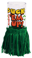 Cordial Shot Glass w/ Skirt - Suck Em Up