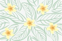 Placemats - Plumeria (Set of 6)