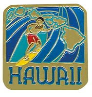 Pin Hawaii Surf