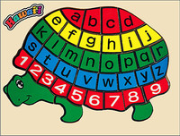 Wooden Puzzle - Turtle with Alphabet