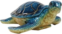 "Blue Sea Turtle 10"" Keepsake Box"