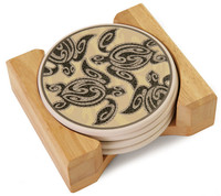 Coasters - Tribal Honu