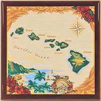 Island Chain Ceramic Tile Trivet