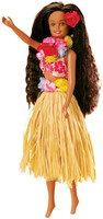 Doll - Nohea with Natural Raffia Skirt Hawaii's Lovely Hula Maiden