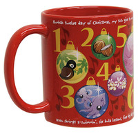 Mug 11oz 12 Days Red
