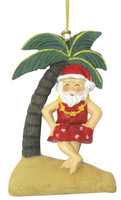 Christmas Ornament (Flat) - Santa Dancing