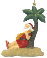 Christmas Ornament (Flat) - Santa Play Ukulele