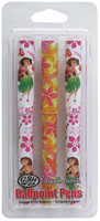Ballpoint Pen 3 Packs - Hula/Plumeria