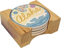 Hawaiian Ceramic Coasters - Slippers Coaster