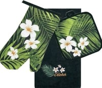 3 Piece Kitchen Set - Plumeria Palm