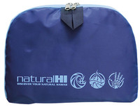 Back Pack Collapsible Natural HI Blue