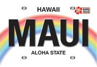 Maui License Plate Playing Cards