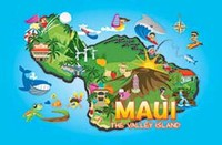 Maui Fun Map Playing Cards