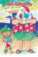 "Boxed 4""x6"" Hawaii Christmas Cards - Santa Shave Ice"
