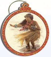 Hawaii Christmas Ornament - The Soft Gentle Breeze