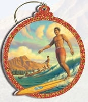 Hawaii Christmas Ornament - Duke Kahanamoku