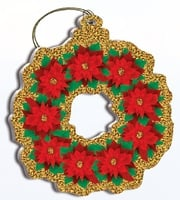 Hawaii Christmas Ornament - Poinsettia Wreath
