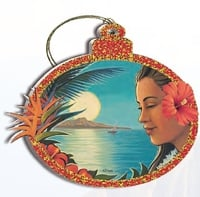 Hawaii Christmas Ornament - Aloha Moonrise